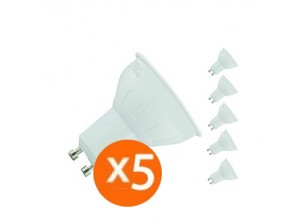 LF lot de 5 spot led GU10 5 watt 400 lumen (eq. 50 watt) - 120°