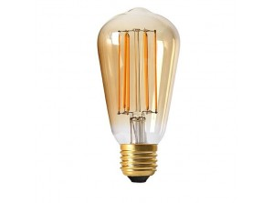 Ampoule led EDISON ST64 filament E27 dimmable 4 watt (eq. 30 watt) ambré