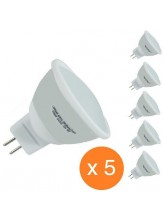 Pack de 5 spots led GU5.3 5 watt (eq. 50 watt) | Led Flash