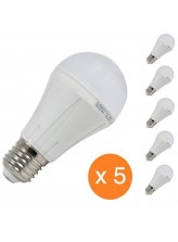 Pack de 5 ampoules led E27 10 watt (eq. 60 watt) | Led Flash