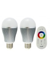 Ampoule LED E27 Multicolore télécommandée (Pack de 2) | Led Flash
