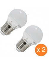 Pack de 2 ampoules led E27 4 watt (eq. 30 watt)