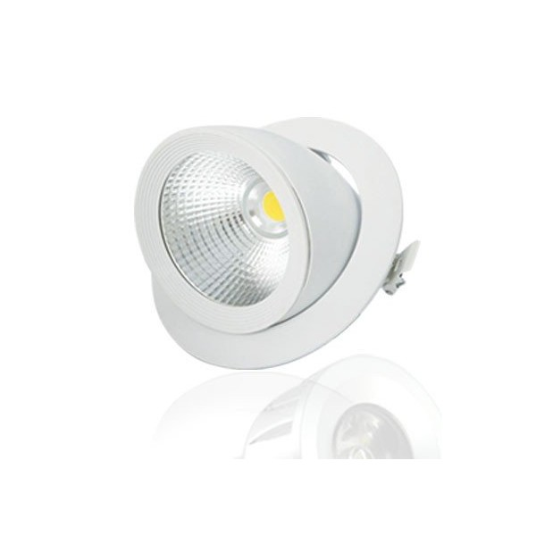 Spot led cob escargot 10w achat spot led encastrable for Spot exterieur orientable encastrable