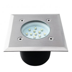 Spot led encastrable sol carré 0,7 watt etanche