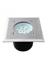 Spot led encastrable sol carré 0,7 watt etanche | Led-Flash