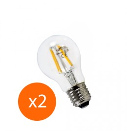 Lot de 2 ampoules led filament E27 6 watt (eq. 60 watt)