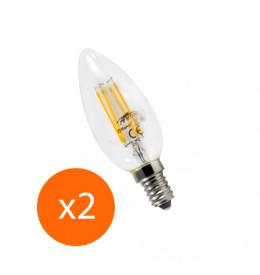 Ampoule led filament E14 4 watt (eq. 40 watt) x2