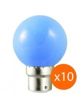 Lot de 10 ampoules led B22 pour guirlande lumineuse - bleu | Led Flash