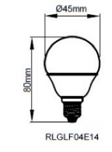 LED E14 4W - dimensions | Led-Flash