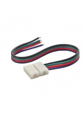 Connecteur cable bandeau LED RGB pack de 20 | Led-Flash