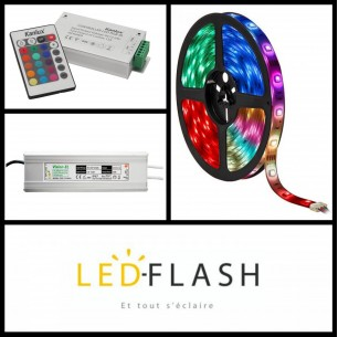 Kit Bandeau led RGB 10 mètres - 4,8 watt/m