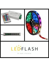 Kit Bandeau LED RGB 5 mètres - 4,8W/m I Led Flash