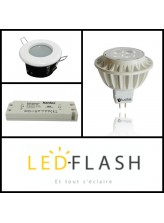 Kit Ampoule spot Led GU5.3 Dimmable support etanche I Led Flash