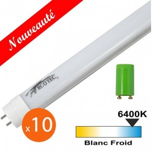 Lot de 10 tubes LED T8 20W 1200mm